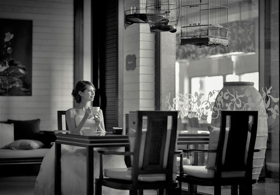 バンヤン・ツリー・ラン・コー<br /> レストランでビーチを眺めながら
