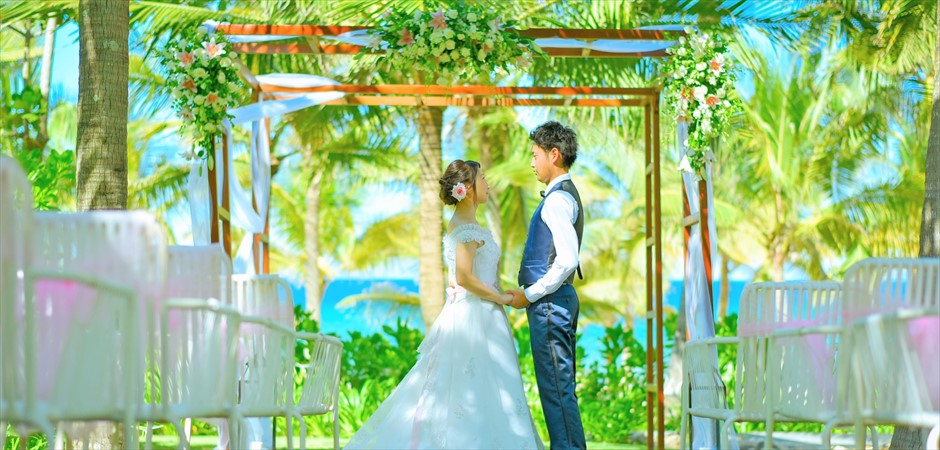 Tropical Wedding at Beach Front Botanical Garden