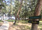 ソル・アンバン・ビーチへ ビーチ・案内ボード ソル・アンバン・森林