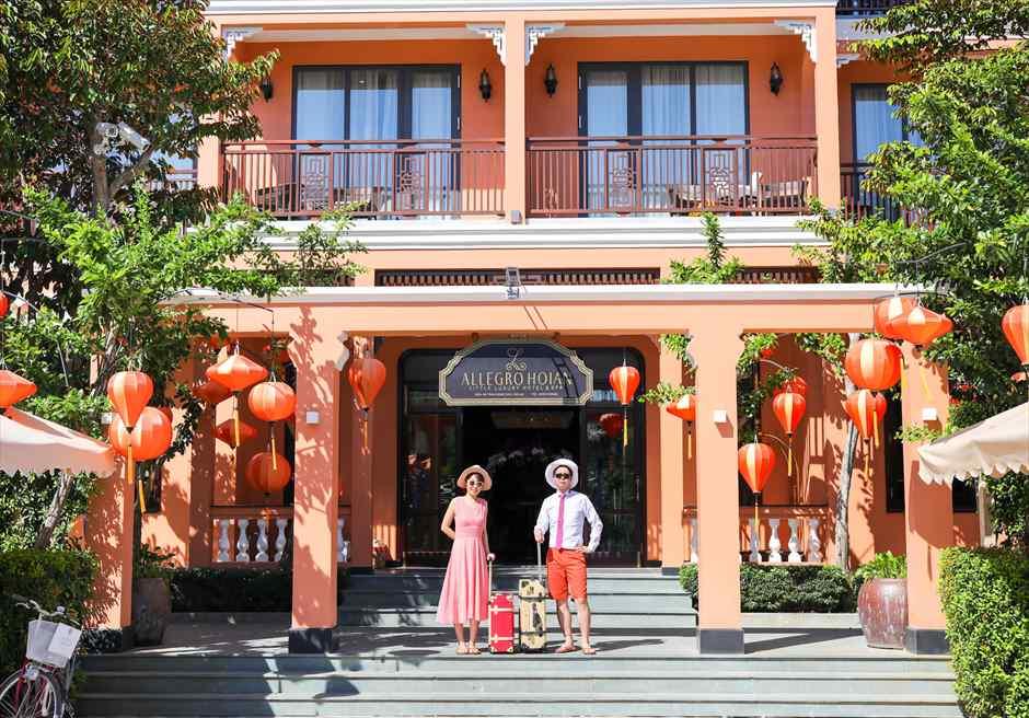 アレグロ・ホイアン・ホテル&スパ<br /> ホイアンスタイルのリゾートでフォトウェディング