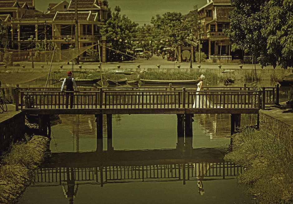 世界遺産ホイアン旧市街<br /> 日本橋前ホイアンリバーにて