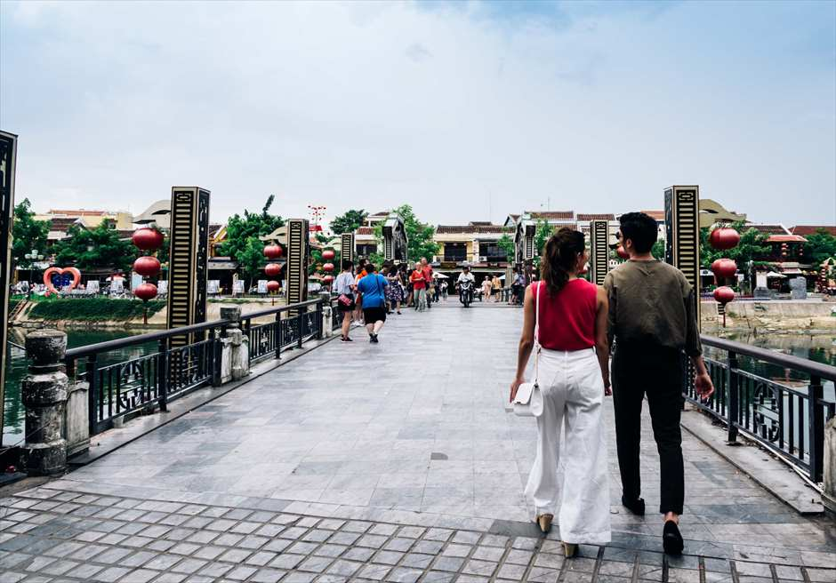 世界遺産ホイアン<br /> 旧市街とホイアン島を結ぶ橋