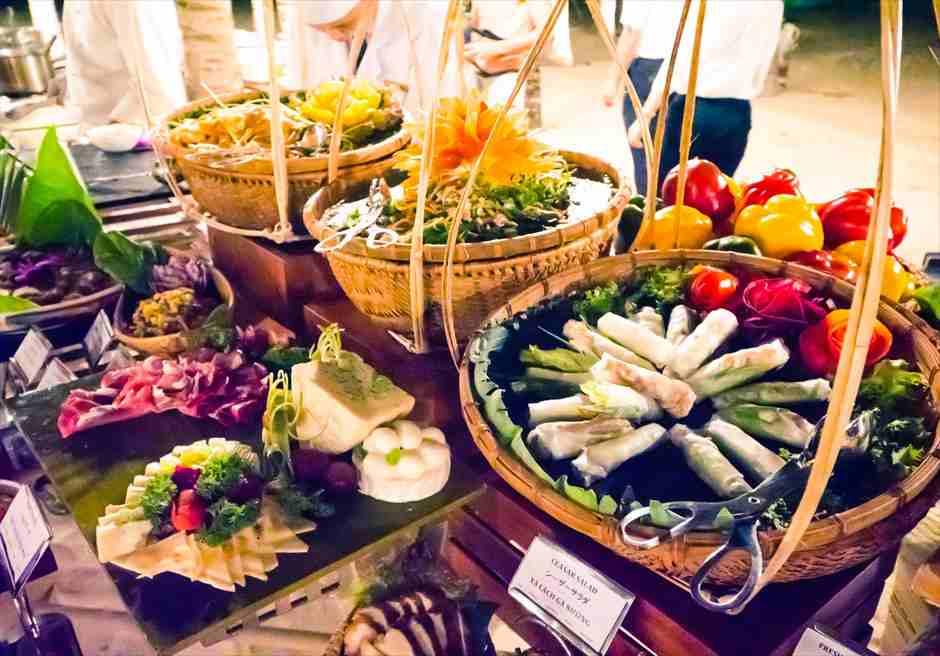 グランヴィリオ・オーシャン・リゾート ビーチ挙式 料理一例