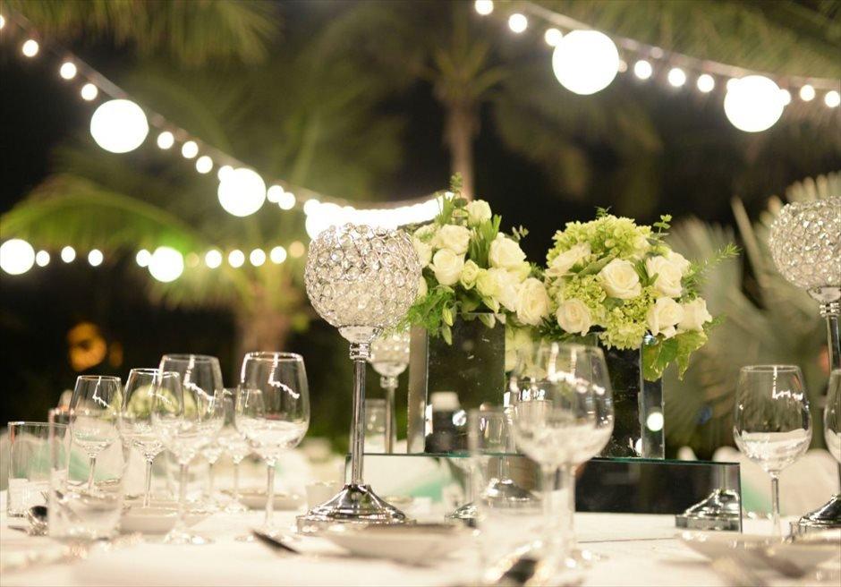 インターコンチネンタル・ダナン ガーデンウェディングパーティー テーブル装飾