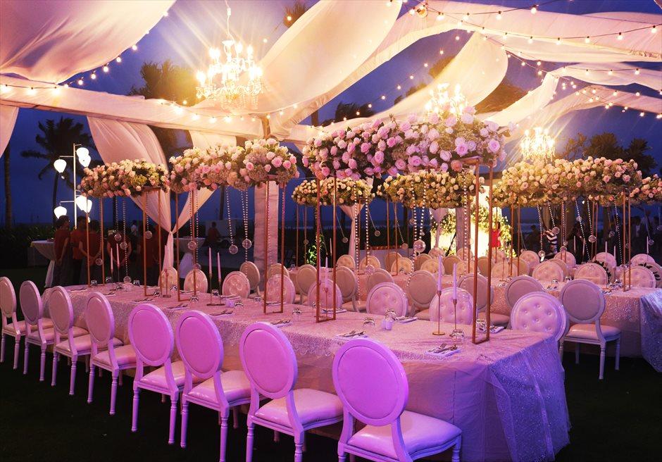 ハイアット・リージェンシー・ダナン<br>ガーデンパーティー装飾&ライトアップ