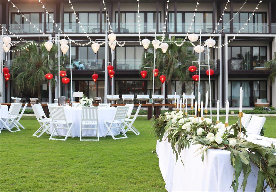 ハイアット・リージェンシー・ダナン<br>高砂のナチュラルな生花装飾