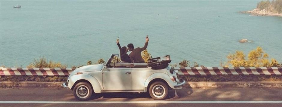 オープンカー<br>①ダナン市内 ¥30,000/2時間<br>②アンバン ¥35,000/2時間